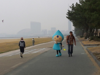 海っぴ散歩中